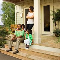 Porch Steps Family Portrait