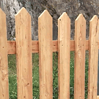 short natural wood picket fence