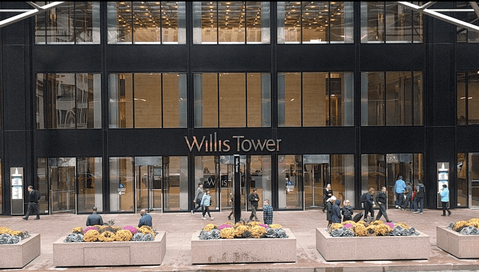 Willis Tower, Chicago, built with D-Blaze FRTW