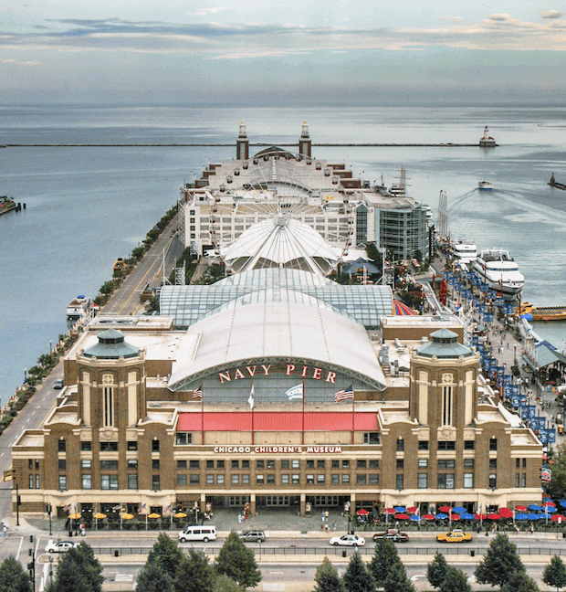 Chicago Navy Pier built with D-Blaze FRTW
