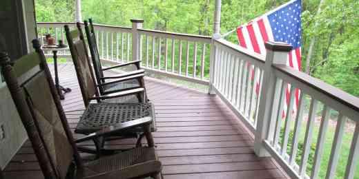 Bob Morella's deck wraps around 3/4 of his home.