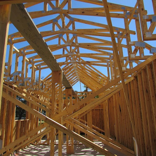 House with roof framing